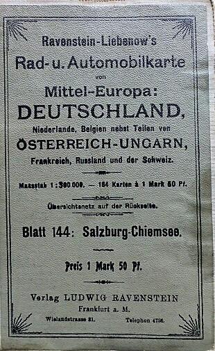 Salzburg Chiemsee környéke régi térkép 1920