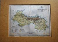 Szerém Vármegye térkép 1897 paszpartuban