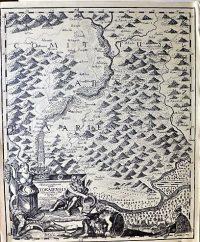 Tokaj Tarcal Tállya Mád térkép 1749 reprint
