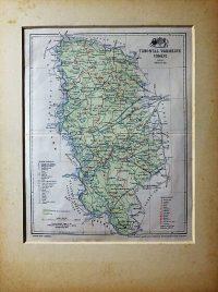 Torontál Vármegye Térkép 1897 paszpartuban