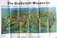 Wuppertal Németország régi panoráma térkép