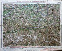 Zell am See környéke régi autó térkép 1920