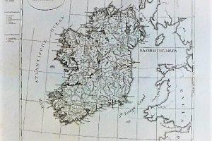 Írország Ireland régi német térkép