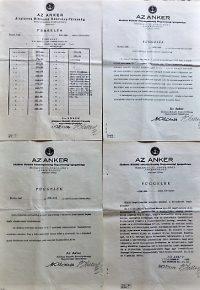 Anker Biztosító kötvény függelék 1930-as évek