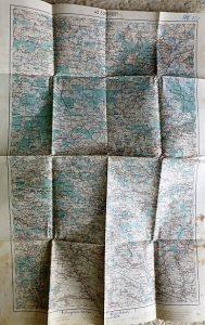 Brody Ukrajna régi katonai térkép 1915