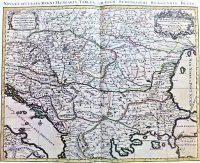 Magyarország régi térkép 1696 reprint