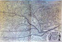 Magyarország régi térkép 1664 reprint