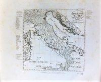 Olaszország régi német térkép
