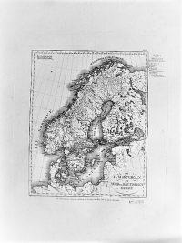 Skandinávia régi német térkép