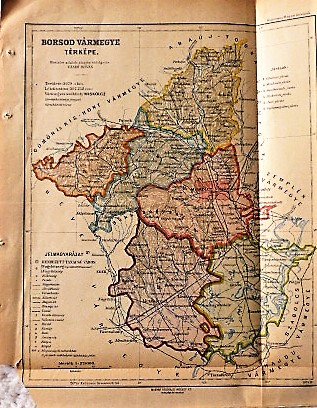Borsod Vármegye régi térkép 1924
