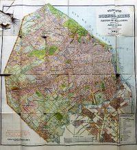 Buenos Aires Argentina régi térkép 1920