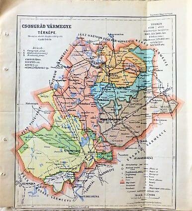 Csongrád Vármegye Térkép 1927