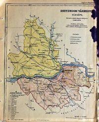 Esztergom Vármegye régi Térkép