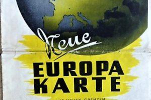 Európa térkép 1948 megszállási zónákkal
