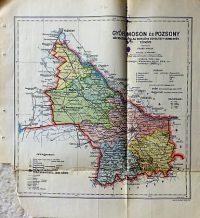 Győr Moson és Pozsony vármegye térkép 1927