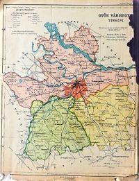 Győr Vármegye térkép 1922
