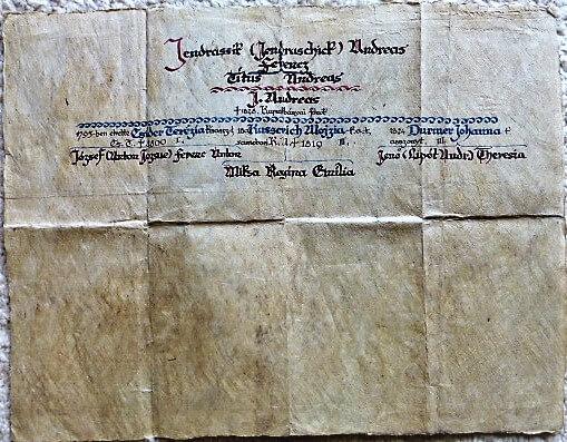 Házasság igazolás 1828