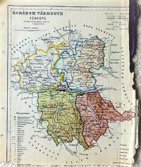 Komárom Vármegye térkép régi