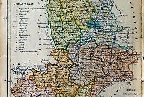 Nógrád Vármegye régi térkép 1922
