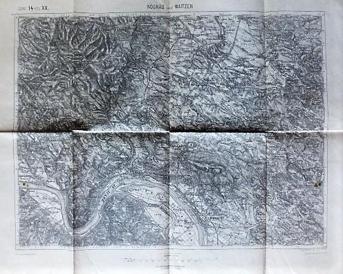 Nógrád Börzsöny Vác Dunakanyar térkép 1912