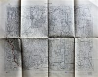 Nagykanizsa környéke régi térkép 1925