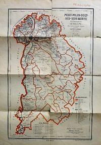Pest-Pilis-Solt-Kis-Kun Megye Térkép 1880