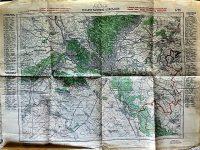 Pozsony Hainburg környéke régi térkép 1934
