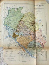 Pozsony Vármegye régi térkép 1917