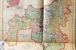 Szabolcs Vármegye Közigazgatási Térkép 1926