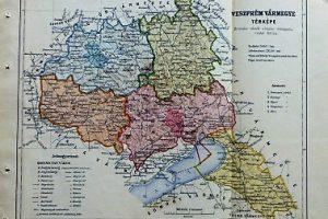 Veszprém Vármegye Térkép 1926 régi