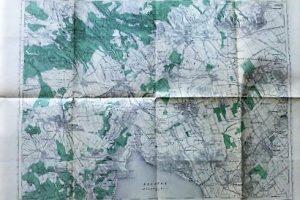 Veszprém Várpalota Balaton régi Térkép 1914