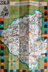 Zala Megye idegenforgalmi térkép 1966