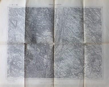 Óbuda Újpest Szentendre Pilis régi térkép 1914