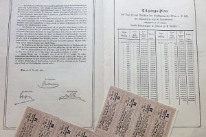 Bécs Város kötvény 1918 2000 korona kamatszelvény