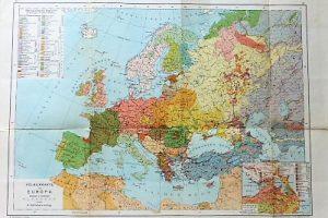 Europa nemzetiségi térképe 1920-as évek