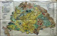 Magyarország Gazdaságföldrajzi Régi Térkép