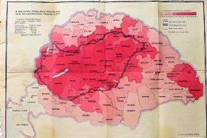 Magyarország magyarság százalékos megoszlása térkép 1932