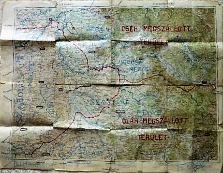 Munkács Szatmárnémeti térkép 1915-17