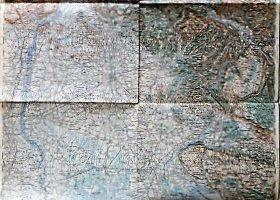 Trieszt Udine környéke régi térkép 1909