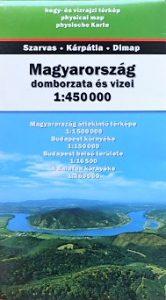 Magyarország domborzata  hegy és vízrajzi térkép