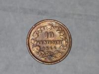 Olasz érme: 10 Centesimi (1866)