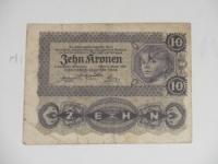Osztrák papírpénz: 10 Korona 1922