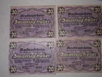 Osztrák papírpénz: 20 Heller 1920