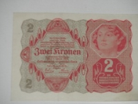 Osztrák papírpénz: 2 korona