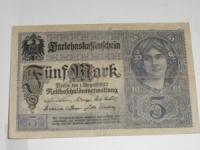 Német papírpénz: 5 Márka