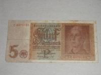 Német papírpénz: 5 Reichsmark (1942)