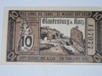 Német notgeld: Blankenburg 10