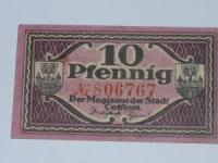 Német notgeld: Cottbus 10 Pfennig
