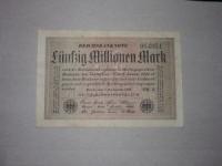 Német papírpénz: 50.000.000 Márka (1923)