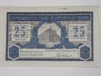 Német Notgeld: Blumenthal 25 Pfennig